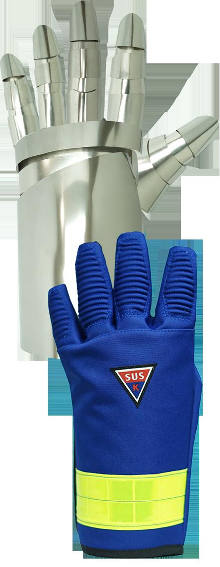 ステンレス素材の手袋の写真